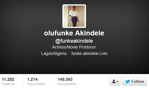 Funke Akindele reverts to her maiden, removes Oloyede from her social media account (Twitter)
